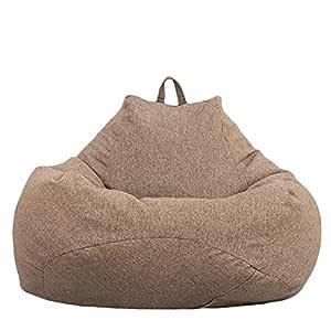 Bweele Puf Grande, Material de Salud Sofá Perezoso Funda de Puff Sofá pequeño Funda de Puff de Lona Premium cómoda para niños Adolescentes y Adultos