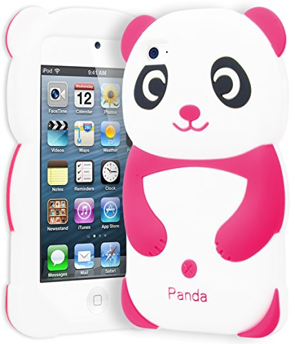 astex 3D Silicone Hot Pink & White Panda Bear Case for Apple iPod Touch 4 ()