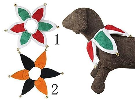 Mascota Cuello Disfraz De Bufón perro gatos collar con campanas juego de 2: Amazon.es: Productos para mascotas