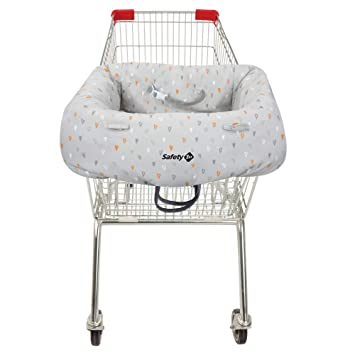 Einkaufswagen-Hygieneschutz für das Kind platzsparend in der
