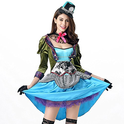 Hallowmax's Halloween Costumes Alice Crazy Princess Hat Plays Cosplay Adult (Halloween 2017 Costumes Celebrity)