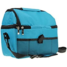 Starsource Large Waterproof Nylon Travel Camp Insulated Cooler Ice Warmer Picnic Lunch Box Bag Tote Hand Shoulder 2-in-1 Bag,For School,Work,Office