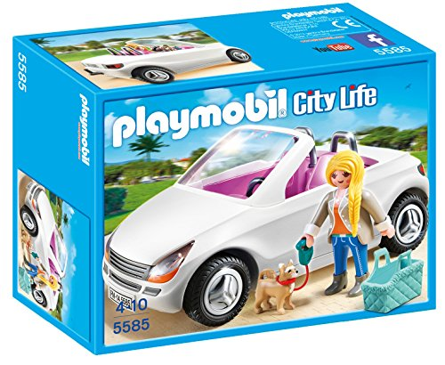 Playmobil 174 Convertible With Woman Amp Puppy Play Set