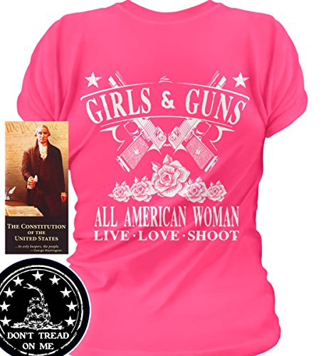 Sons of Libery Girls & Guns. All American Woman. Wom Pink/XL - All T Shirts Pro