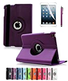 ipad 2 air case girls cool - Apple iPad Air 2 Case CINEYO(TM) 360 Degree Rotating Stand Case Cover with Auto Sleep / Wake Feature for iPad Air 2 / iPad 6 (6th Generation) (Purple)