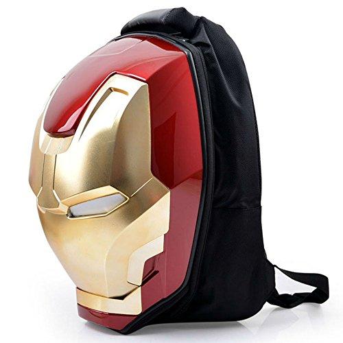 Marvel 3D Hardshell Backpack (Iron Man (LED Light)) by Mtime (Image #2)