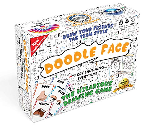 Doodle Face Game - New Hilarious Game of Drawing Your Friends and Family - A Drawing Game for Families - Stay at Home Date Night Party Game for 3 - 20 Players - Fun for All Ages and Skill Levels