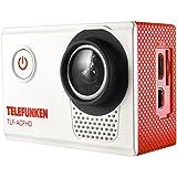 Telefunken Camara Deportiva Full HD 1080p waterproof con accesorios TLF-ACFHD-Roja Blanco