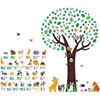 Decowall DM-1614P1312 Animal Alphabet ABC Large Tree Kids...
