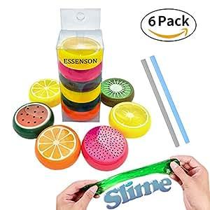 Amazon essenson magic crystal slime putty toy soft rubber fruit essenson magic crystal slime putty toy soft rubber fruit slime for kids studentsbirthday ccuart Gallery