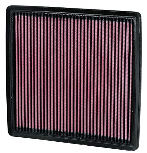 K&N engine air filter, washable and reusable:  2007-2019 Ford/Lincoln Truck and SUV V6/V8/V10 (F150, F150 Raptor, Expedition, Navigator, F250, F350, F450, F550, F650) 33-2385 ()