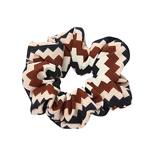 Women Girly Heart Elastic Hair Rope Ring Tie Scrunchie Ponytail Holder Hair Band Headband (Coffee2) ()
