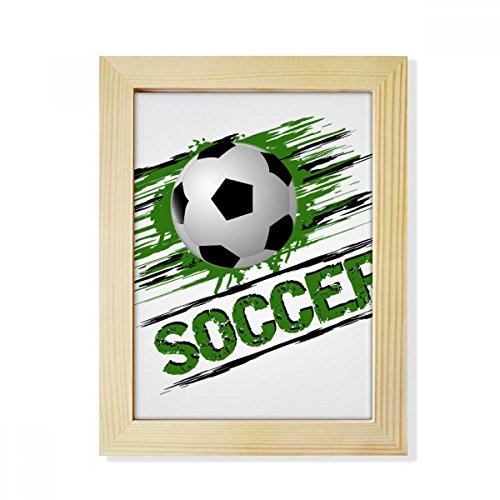 DIYthinker Green Soccer Football Sports Desktop Wooden Photo Frame Picture Art Painting 6x8 inch by DIYthinker