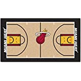 FANMATS NBA Miami Heat Nylon Face NBA Court Runner-Small