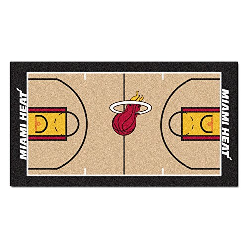 Large Team Rug - FANMATS NBA Miami Heat Nylon Face NBA Court Runner-Small