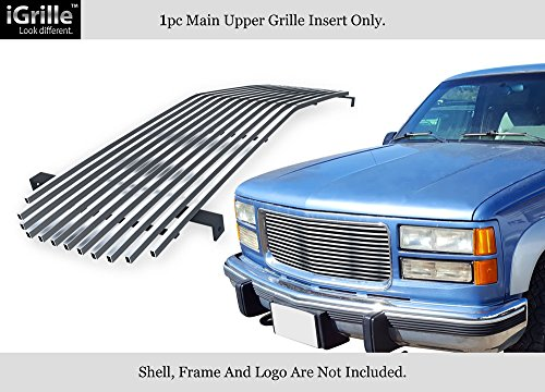 - APS Fits 1994-1999 GMC Sierra/C/K Pickup/Suburban Stainless Steel Billet Grille Grill Insert Chrome Polished #G85012S
