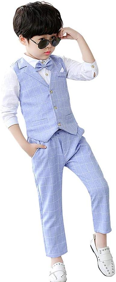DAZISEN Jungen Anzug Slim Fit Festliche Kinderanzug