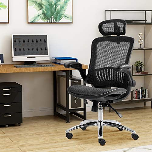Mesh Office Chair Ergonomic Computer Desk Chair Technical Task Swivel Chair Home Executive High Back for Teens/Adults