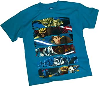 Face Off -- Star Wars: The Clone Wars Youth T-Shirt, Youth X-Large