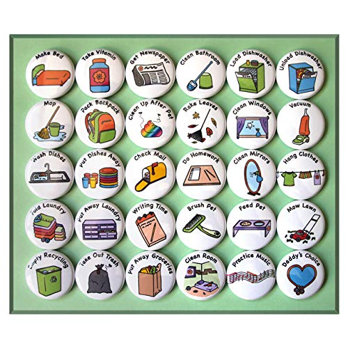 Chore Magnets for Older Kids (30 piece set) for sale  Delivered anywhere in USA