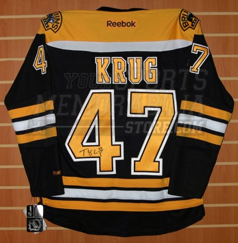 3da58e93d Torey Krug Boston Bruins Signed Reebok Bruins Home Hockey Jersey at  Amazon's Sports Collectibles Store