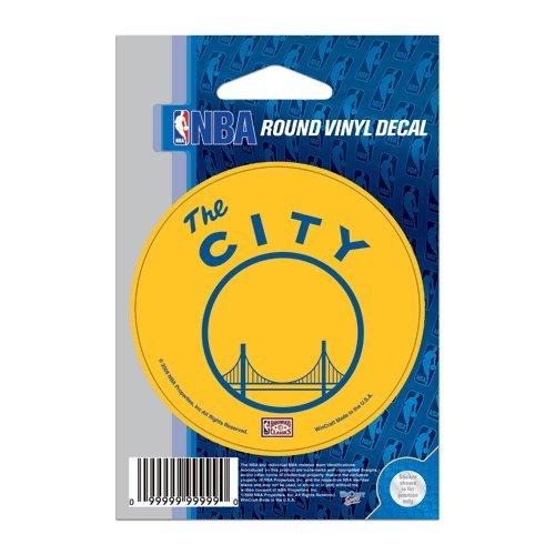 Golden State Warriors Official NBA 3 inch Diameter Vinyl Car Decal by Wincraft