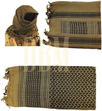 Military Shemagh Tactical Arab Desert Keffiyeh Scarf Head Wrap Tan