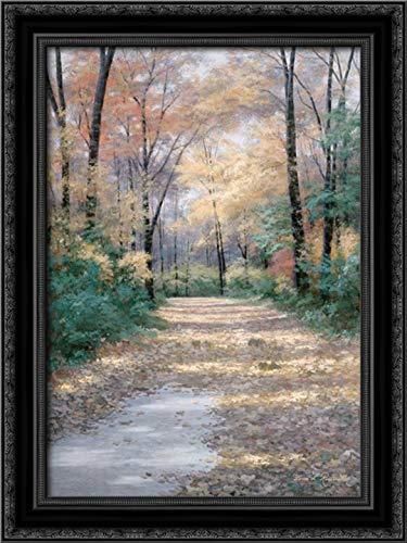 Harvest Morning 17x24 Black Ornate Wood Framed Canvas Art by Romanello, Diane