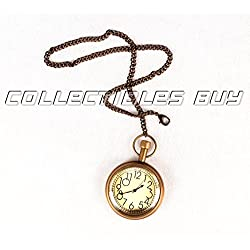 Vintage style pocket watch brass chain clock maritime antique Japanese movement watches