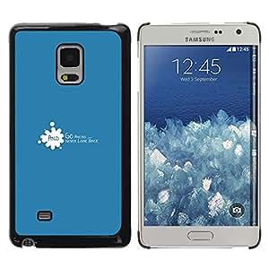 ROKK CASES / Samsung Galaxy Mega 5.8 9150 9152 / GO AHEAD AND NEVER LOOK BACK / Delgado Negro Plástico caso cubierta Shell Armor Funda Case Cover