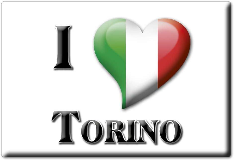 Enjoymagnets Torino Souvenir Aimant DE FRIGO Italie Piemonte ID/ÉE DE Cadeau Magnets Je Aime