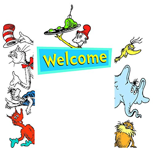 Eureka Cat In The Hat Welcome Go-Around decoration for classroom, birthday parties & (Hat Bulletin Board)