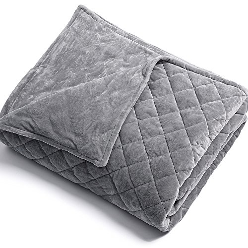 BUZIO Removable Duvet Cover for Weighted Blanket Inner Layer Keep Clean By Just Cover, Easy Care, 60 x 80 Inches