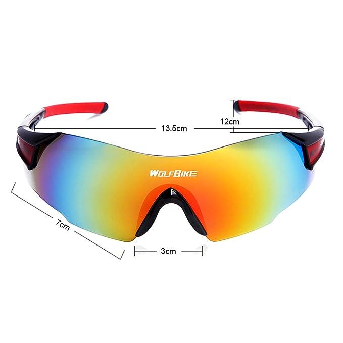Lixada Lunettes de Soleil de VTT Sport Adulte Coupe-vent UV Protection en Plein Air pour le Moto le Cyclisme RibwbEBy