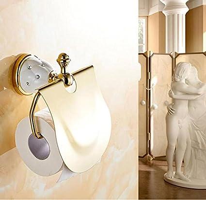Amazon.com: ZQ American style Golden Bathroom Racks Bathroom Suite Bathroom Pendant , single bar towel bar: Home & Kitchen