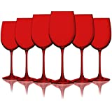 Red Colored Wine Glasses - 19 oz. set of 6- Additional Vibrant Colors Available