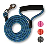 NEW Atlin DynamicComfort Leash - Climbing Rope Dog Lead with Padded Handle for Medium and Large Dogs - 4 FT or 6 FT Leashes for the Perfect Amount of Control - Reflective Leash for Night Safety