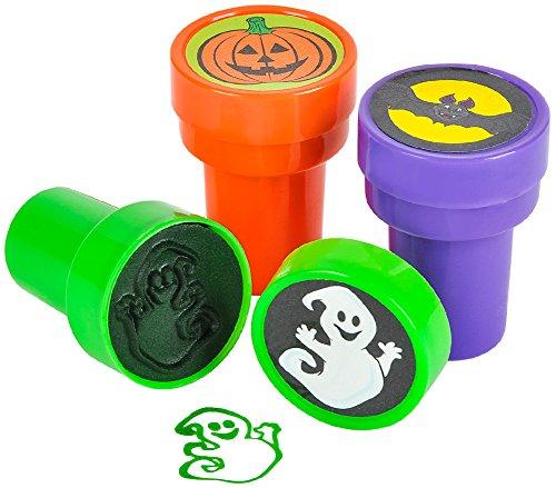 DDI Set of 24 Assorted Plastic Stamper Stamps Art Halloween Decoration Kit