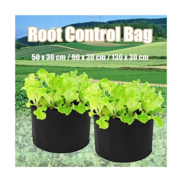 Ouqian Sacchi per Piante Orto Herb Fiore Che piantano Borsa di Controllo Root Grow Letto rialzato per Il Giardinaggio… 4 spesavip
