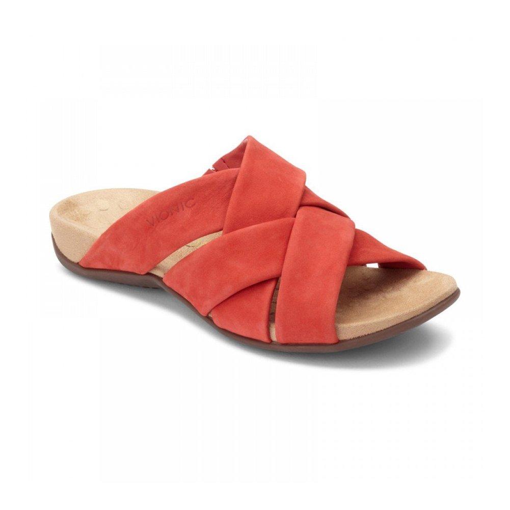 Vionic Women's Juno Slide Sandal B07D3GQNBS 6.5 C/D US|Cherry