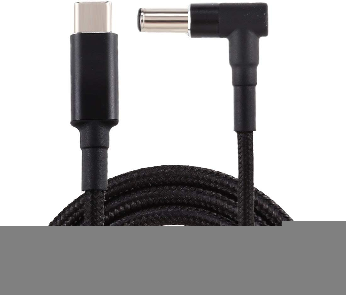Cable Length PD 100W 6.0 x 1.4mm Elbow to USB-C//Type-C Nylon Weave Power Charge Cable 1.7m Premium Quality