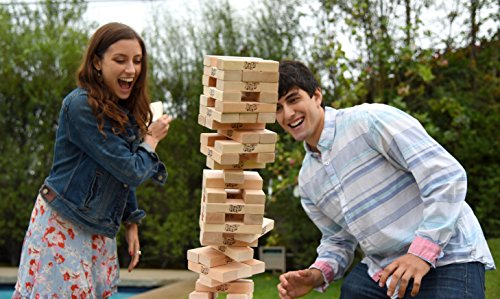 Jenga Giant Family (Stacks to Over 3 Feet) Precision-Crafted Hardwood Game (Authentic Brand Game) (01506-19-noAcc)