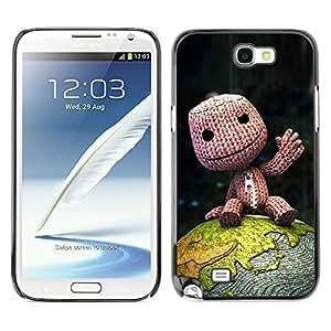 Paccase / SLIM PC / Aliminium Casa Carcasa Funda Case Cover - Cute Happy Fellow - Samsung Note 2 N7100