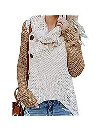 Creazrise - Womens Sweater,Button Down Long Sleeve Knitting Regular Blouse Sweatshirt Autumn and Winter