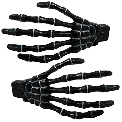 Black Skeleton Hands Hair Clip Kreepsville 666 Halloween Horror Accessory