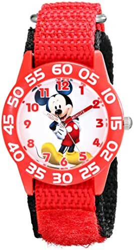 Disney Kids' W001657 Mickey Mouse Analog Red Watch