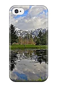 Excellent Design Earth Mountain Phone Case For Iphone 4/4s Premium Tpu Case