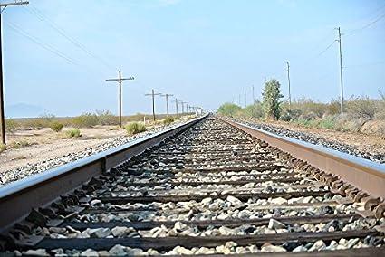 amazon com home comforts laminated poster train track railroad