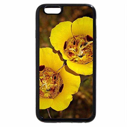 iPhone 6S / iPhone 6 Case (Black) Mariposa Tulips