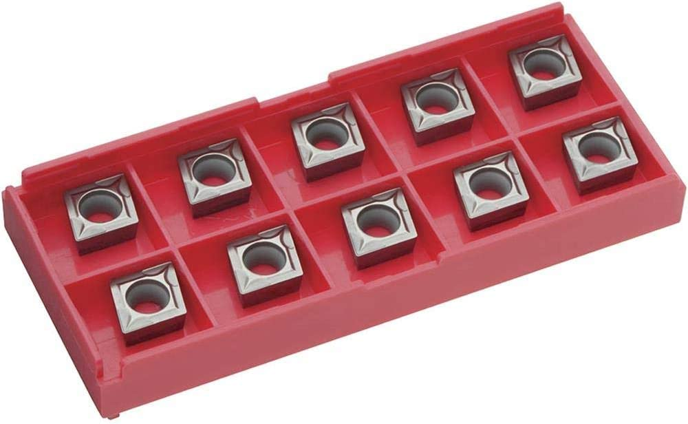 Carbide Inserts CCMT for Cast-Iron pk Grizzly Industrial T20671 of 10